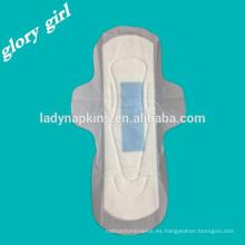 Almohadillas sanitarias aniónicas tejidas secas ultrafinas desechables femeninas