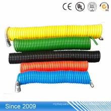 Tuyau flexible en spirale d'air de tuyau de polyuréthane enroulé par pneumatique
