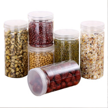 Hot selling Cheap Round Plastic jar with Screw Lids For Candy Storage