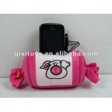 jouets échantillons gratuits en peluche et bourrage jouets porte-téléphone bonbons