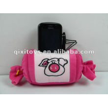 toys free samples plush& stuffing toys candy phone holder