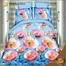 Flores de amor 3d hojas de cama, línea de cama y accesorios, ropa de cama 3D conjuntos