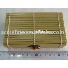 Естественная одноразовая бамбуковая коробка
