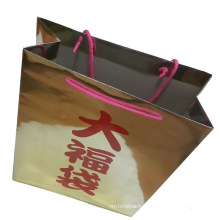 Customized Printing Paper Carrier Gift Shopping Bag (SW391)