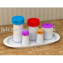 juego de cocina con funda de silicona