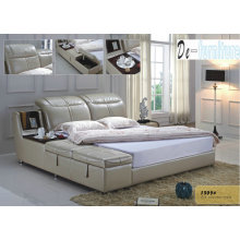 European Style Modern Leather Bed in Bedroom Furniture (1509)