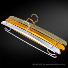 Venta caliente percha de metal de bajo costo tienda de ropa percha
