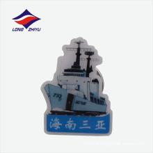Cartão de cruzeiro de luxo design de prata logotipo lapela badge