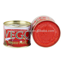 70 G Vego Canned Tomato Paste Chinese Manufacturer From 2016 New Crop