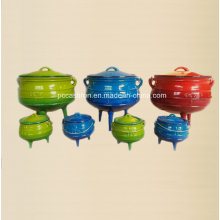 Enamel Cast Iron Cookware Set of Potjie Pot for South African Countires