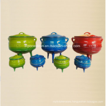 Enamel Cast Iron Cookware Set of Potjie Pot for South Affican Countires
