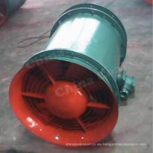 Ventilador axial extractor minero con ventilador axial Sillencer Tunnel