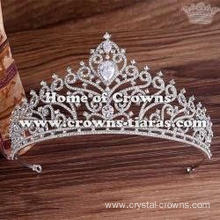Gorgeous Crystal Pageant Queen Crowns With Zircon Diamond