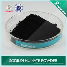 Humate super sodium utilisé dans la céramique, l'aquaculture, engrais organique