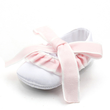 Ikatan simpul Lacework Ballet Baby Girl Dress Shoes