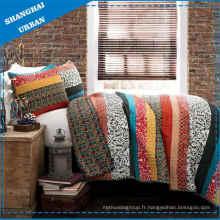 Couette en patchwork de couvre-lit en polyester 3 PCS