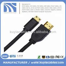 1.5m 5FT 1.4V Full HD HDMI al mini cable 1080p de HDMI para la tableta DC DV HDTV