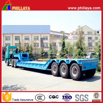 Stainless Steel Concave Inwards Lowbed Semi Trailer