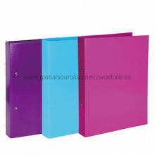 Ring Binder, Cardboard Printed, with PVC Clear Film, Available for Various Sizes and Colors