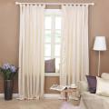 Beautiful bay window fabric curtains