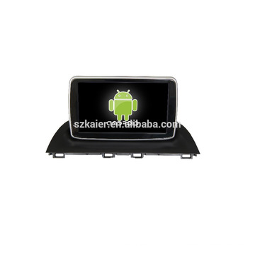 Quad core!car dvd with mirror link/DVR/TPMS/OBD2 for 8 inch touch screen quad core 4.4 Android system MAZDA 3 2015