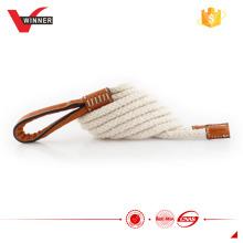 Handgefertigte weiße Baumwollseilgürtel