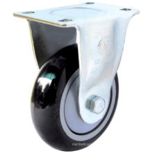 Fixed PU Caster (Black, Round Surface) (3303894)