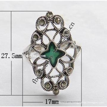 2015 Gets.com Tailandia anillo de dedo de acero inoxidable de moda de plata esterlina