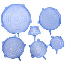 Tapa elástica de silicona de grado alimenticio para tazones / tazas