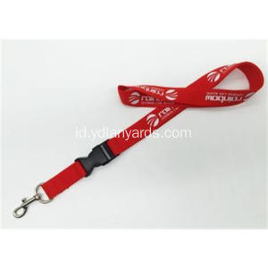 Polyester Silk Screen Dicetak Lanyard Safety Lanyard