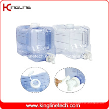 Tanque de agua plástico del congelador del rectángulo de 2 galones Venta al por mayor BPA libre con la espita (KL-8010)