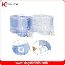 2 gallons Rectangulaire Congélateur réservoir d'eau en plastique BPA en gros avec Spigot (KL-8010)
