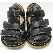 Solid Black Squeaky Sandals Boy