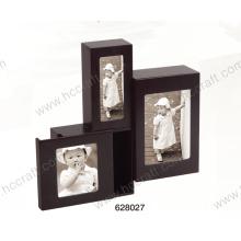 Caja de foto de madera clásica negra especial