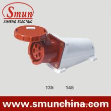 63A 125A 5pin Wall Mounting Socket, Industrial Socket IP67, PA66 220-415V