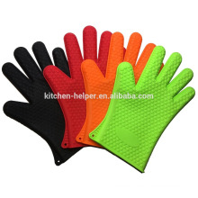Wholesale FDA Kitchen Waterproof Heat Resistant Oven Barbecue Gloves/Silicone Grill Oven BBQ Glove/Oven Mitt