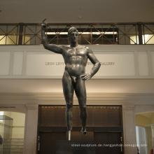 Art Deco riproduzioni Bronze Gießerei Metall Handwerk männliche Akt Skulptur MUS95