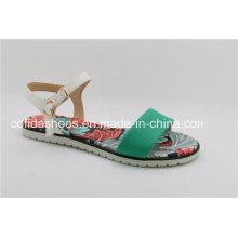 Nuevas sandalias planas de la mujer de la comodidad para la señora de la manera