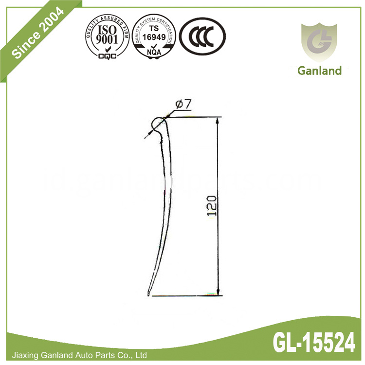 curtain side seal strip gl-15524