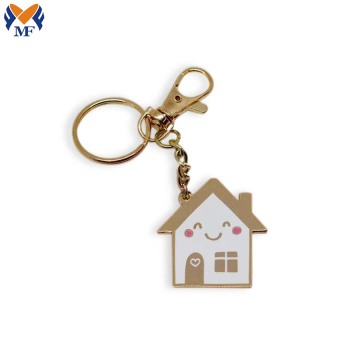 Customized metal craft enamel keychain