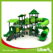 Holz Serie Spezielle Design Outdoor Spielplatz mit High Tube Slide LE.SL.007