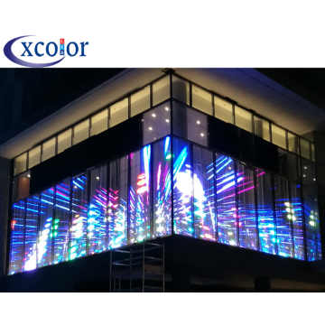 Popular Transparent Advertising Display P7.81 Using LED