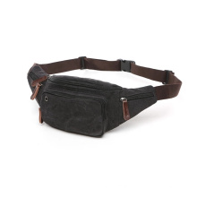 Wholesale Trendy Private Label Custom Your Own Logo Leather Sports Canvas Running Waist Bag