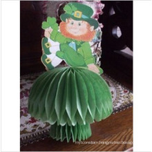 Tissue Paper Honeycomb Centerpieces for St Patricks Day