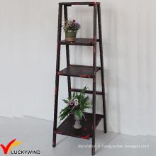 Eco Paint Rustic 3 Tiers Ladder Style Étagère de rangement