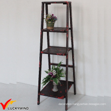 Eco Paint Rustic 3 Tiers Ladder Style Storage Shelf
