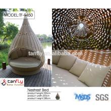 2015 new design rattan hanging sun lounger furniture