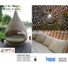 2015 new design rattan hanging sun lounger furniture