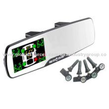 Wireless rearview mirror TPMS with internal sensor applying to all passenger car