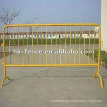 Barreira de pedestres temporária galvanizada